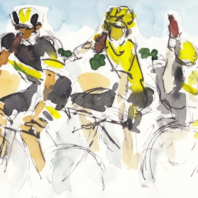 Tour de France, cycling, art, Maxine Dodd