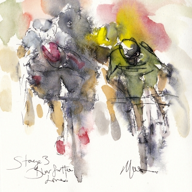Tour de France, cycling, art, Blur for the line! by Maxine Dodd