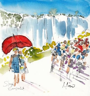 Tour de France, cycling, art, Sunshade! by Maxine Dodd