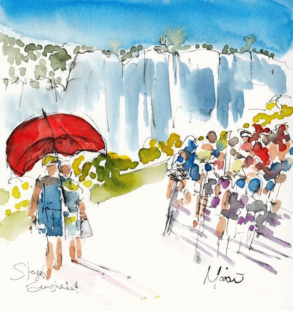Tour de France, cycling, art, Sunshade! by Maxine Dodd