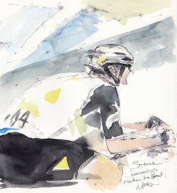 Tour de France, cycling, art, Steve Cummings makes the break!