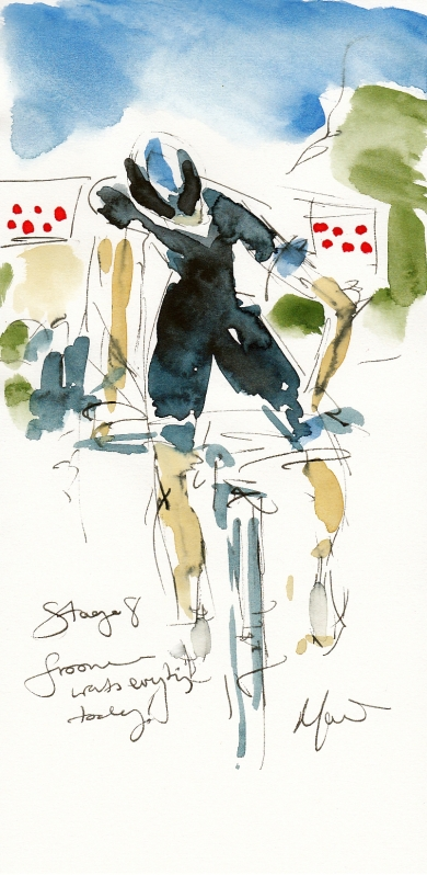 Tour de France, cycling, art, Froome wants everything today! by Maxine Dodd