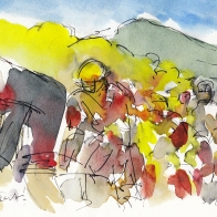Tour de France, cycling, art, Melting heat by Maxine Dodd