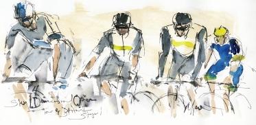 Cycling, art, Maxine Dodd, Tour of Britain