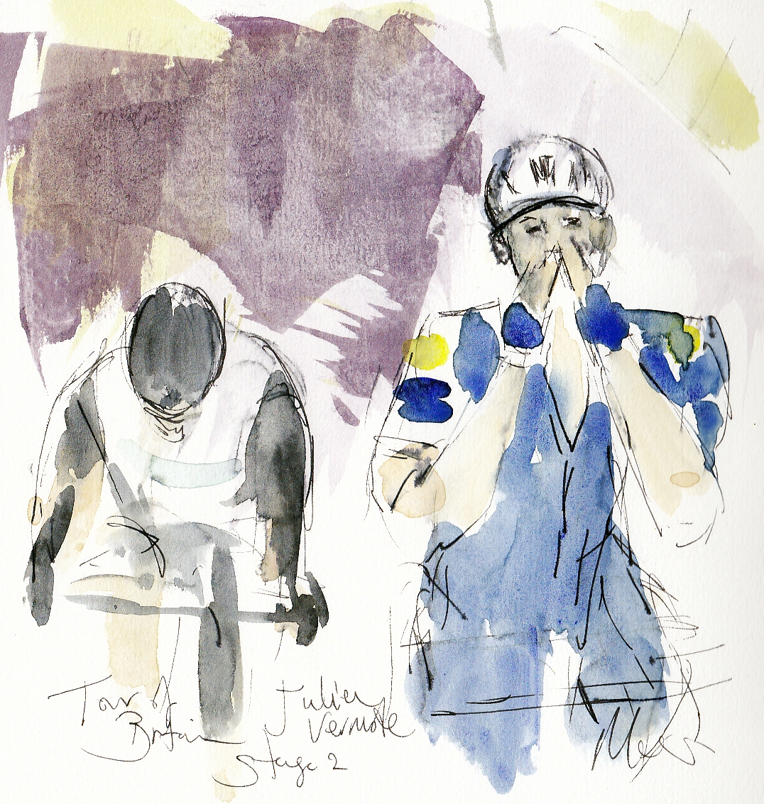 Cycling, art, Julien Vermote, Maxine Dodd