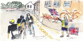 cycling, art, Tour of Britain, Maxine Dodd