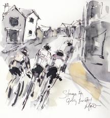 Cycling, art, Tour of Britain, Maxine Dodd