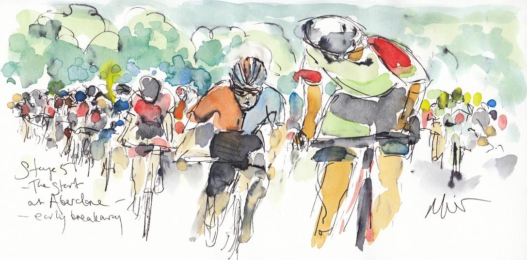 Cycling art, tour of britain, Maxine Dodd