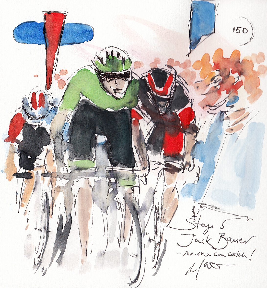 cycling art, tour of britain, maxine dodd