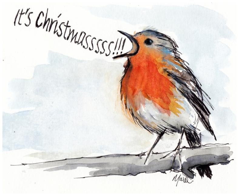 Christmas, art, robin, slade, It's Christmassssss!!!!!