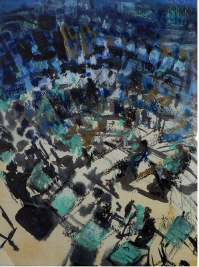 Orchestra in blue and gold