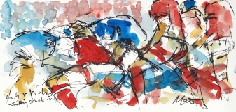 Rugby, art, 6 Nations, Six Nations