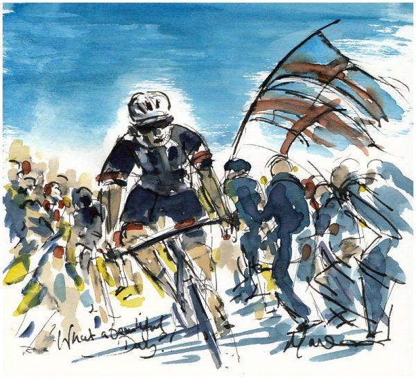 cycling art, tour de yorkshire