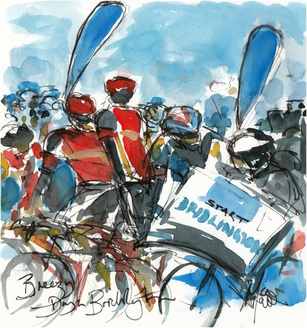 Cycling, art, Tour de Yorkshire, Bridlington