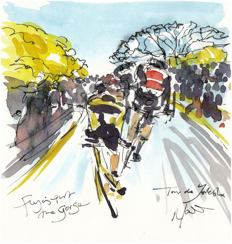 cycling art, Tour de Yorkshire
