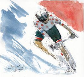 cycling, Tour de France, art, barguil, Bastille Day