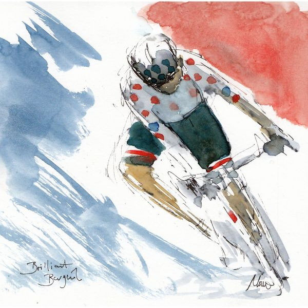 cycling, Tour de France, art, barguil, Bastille Day