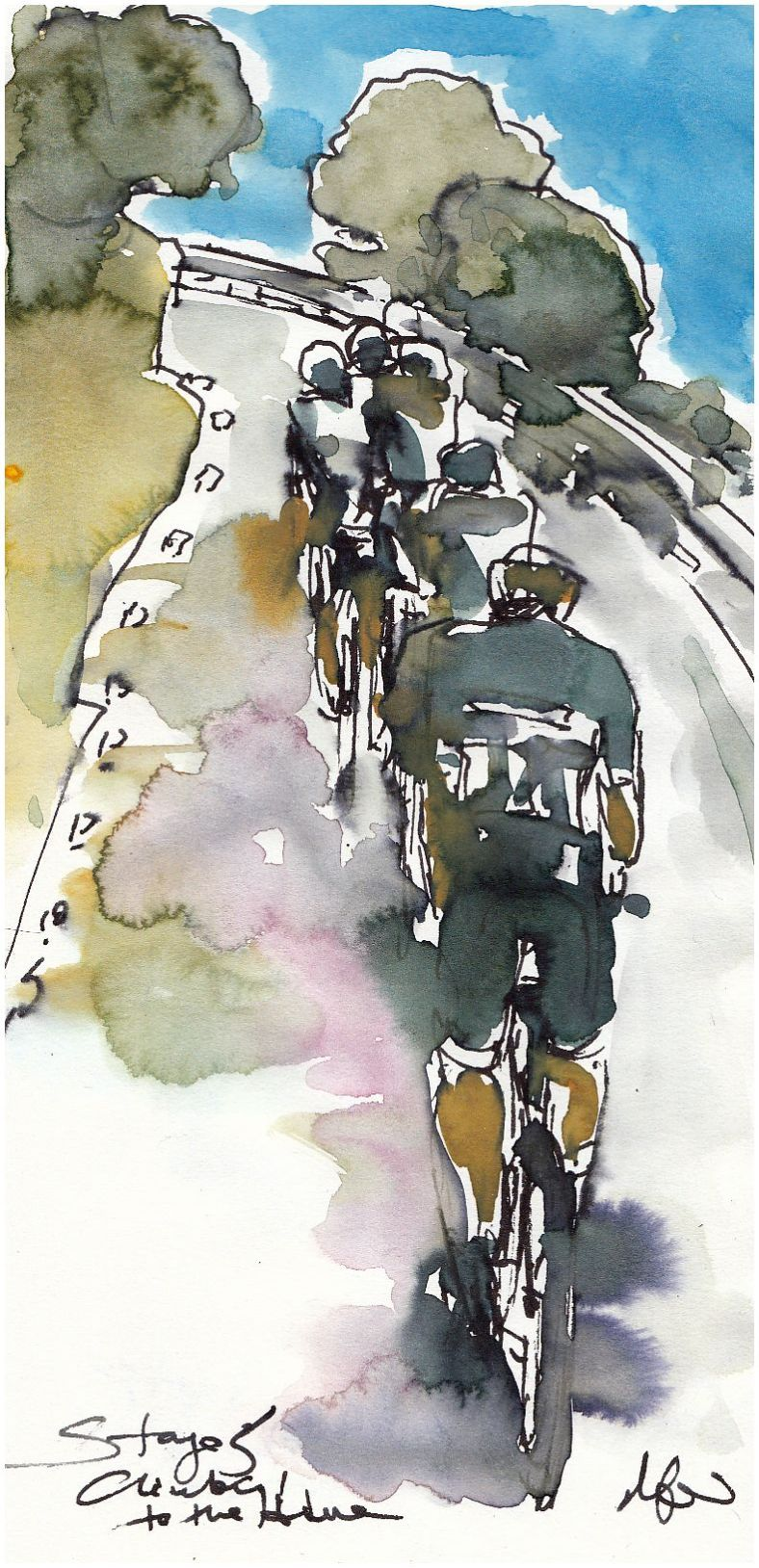 cycling, art, la vuelta, vuelta 2017