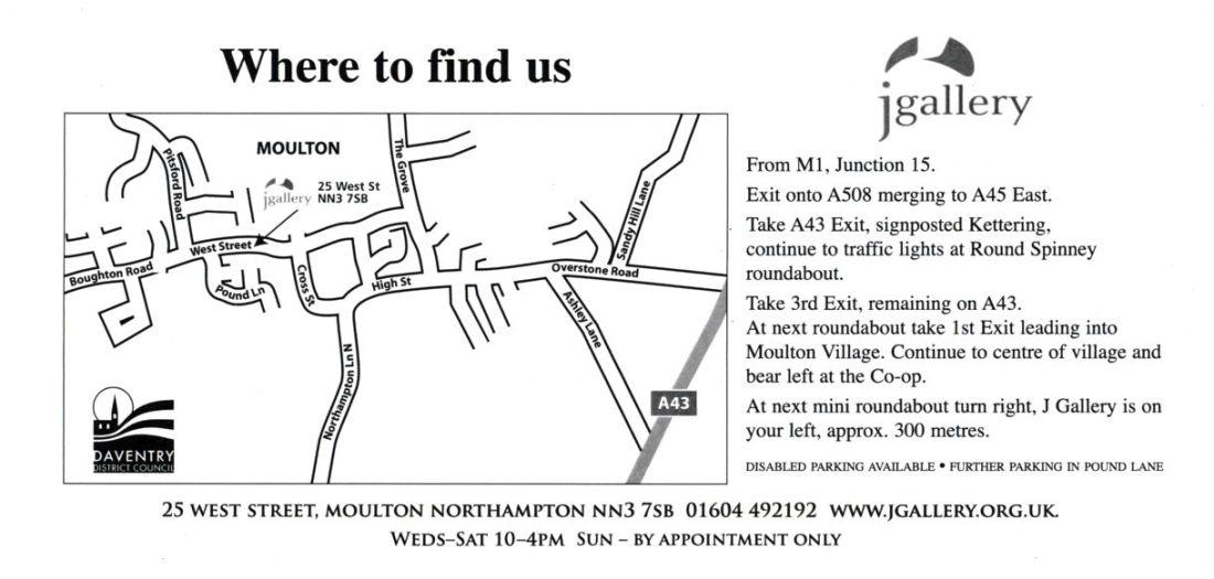 gallery, jgallery, moulton, northampton, east midlands art gallery