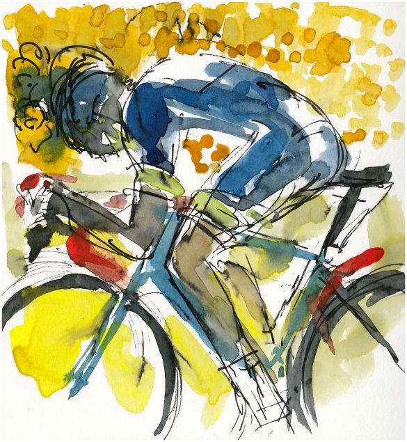 cycling art, cycling, tour de france 2017
