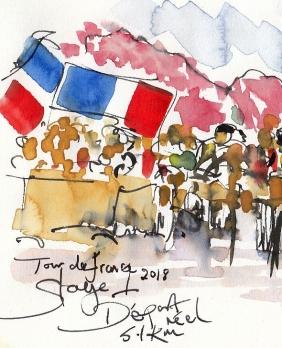 Cycling art, tour de france, maxine dodd