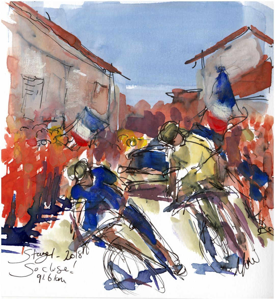 cycling art, tour de france, maxine dodd