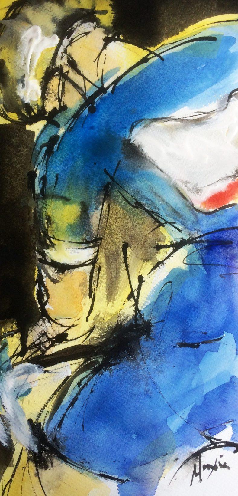 cycling art, tour de france, Julian Alaphilippe,