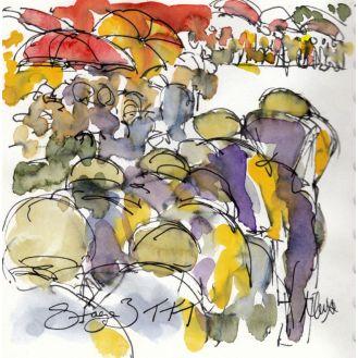 Cycling art, tour de france, mitchelton scott