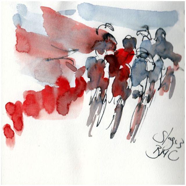cycling art, tour de france, bmc