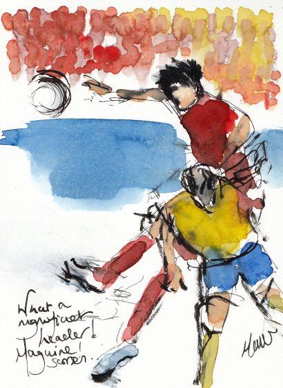 football art, world cup 2018, england, harry maguire