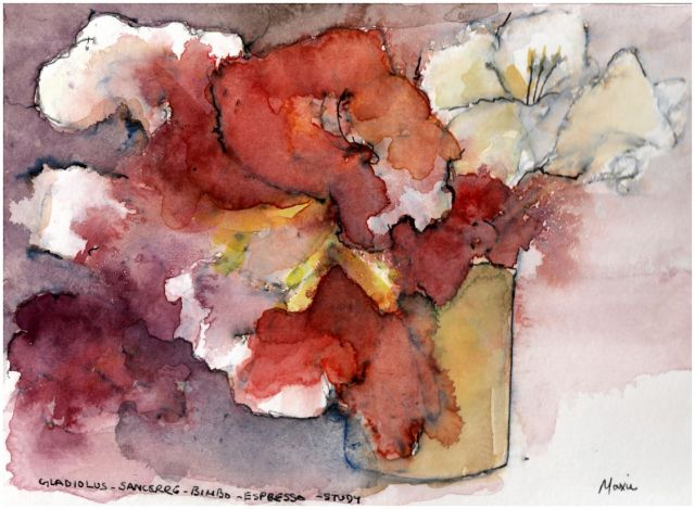 gladioli, flower, art
