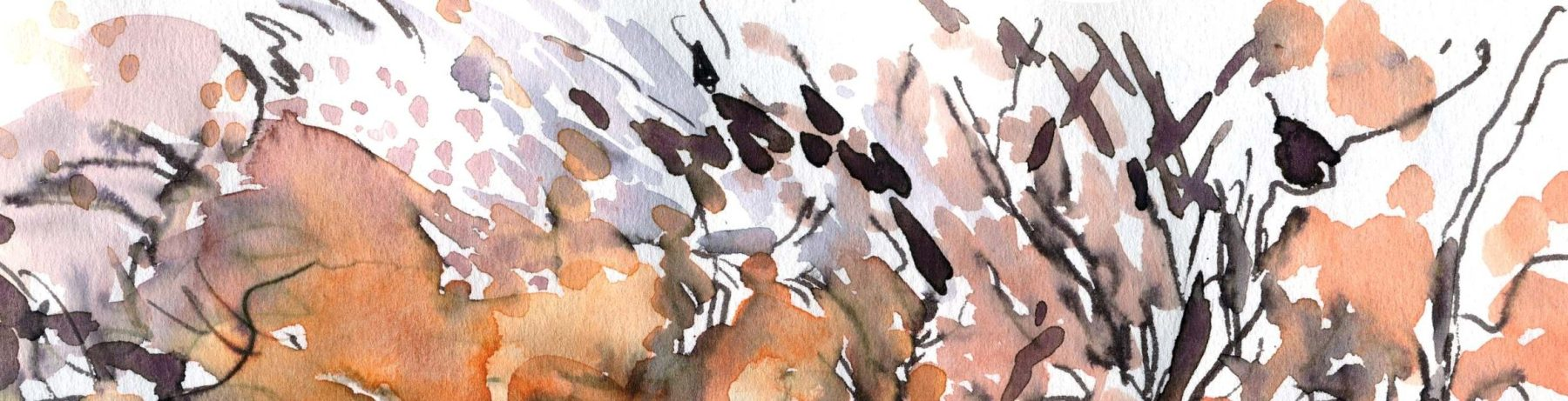 Frosty Morning - detail, watercolour painting
