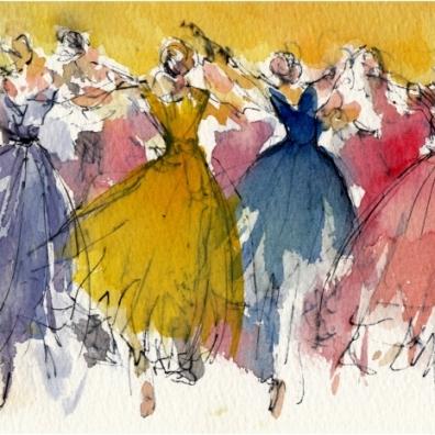 vienna New Year Concert, dancers waltzing