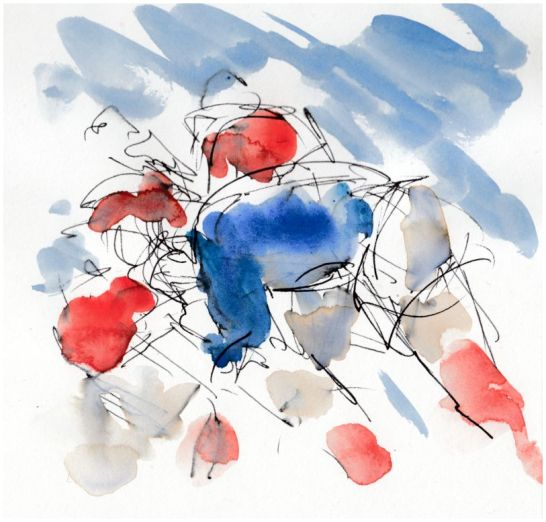 Rugby, art, Six Nations, France v Wales, sketch