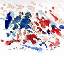 rugby, Six Nations, France v Wales, sketch