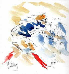 Six Nations, Rugby art, Italy v France - Felix