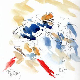 Six Nations, Rugby art, Italy v France - Felix