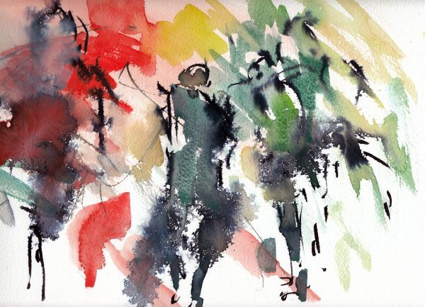 Rugby art, Six Nations, Wales v Ireland abstract