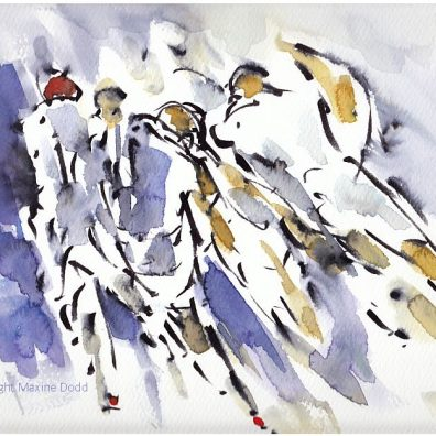 Six Nations, Rugby art, England v Scotland - Storming