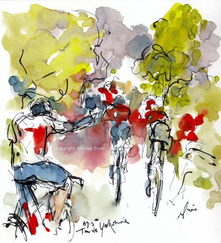 cycling art, Tour de Yorkshire,