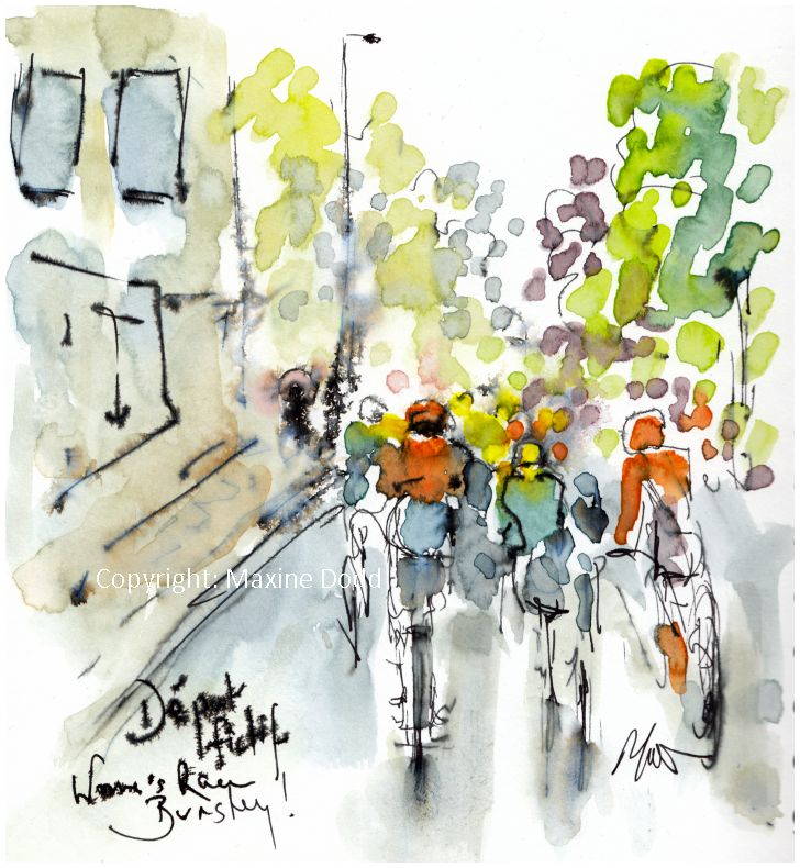 cycling art, Womens Tour of Yorkshire, Barnsley