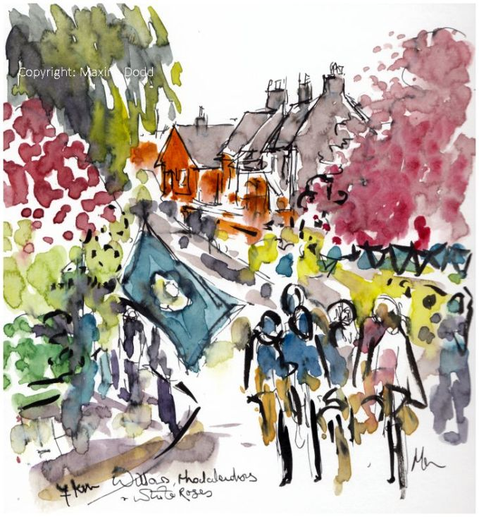 cycling art, womens tour of yorkshire