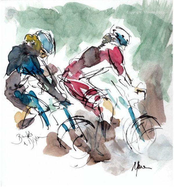 cycling art, Women's Tour of Yorkshire