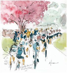 cycling art, Women's race Tour de Yorkshire