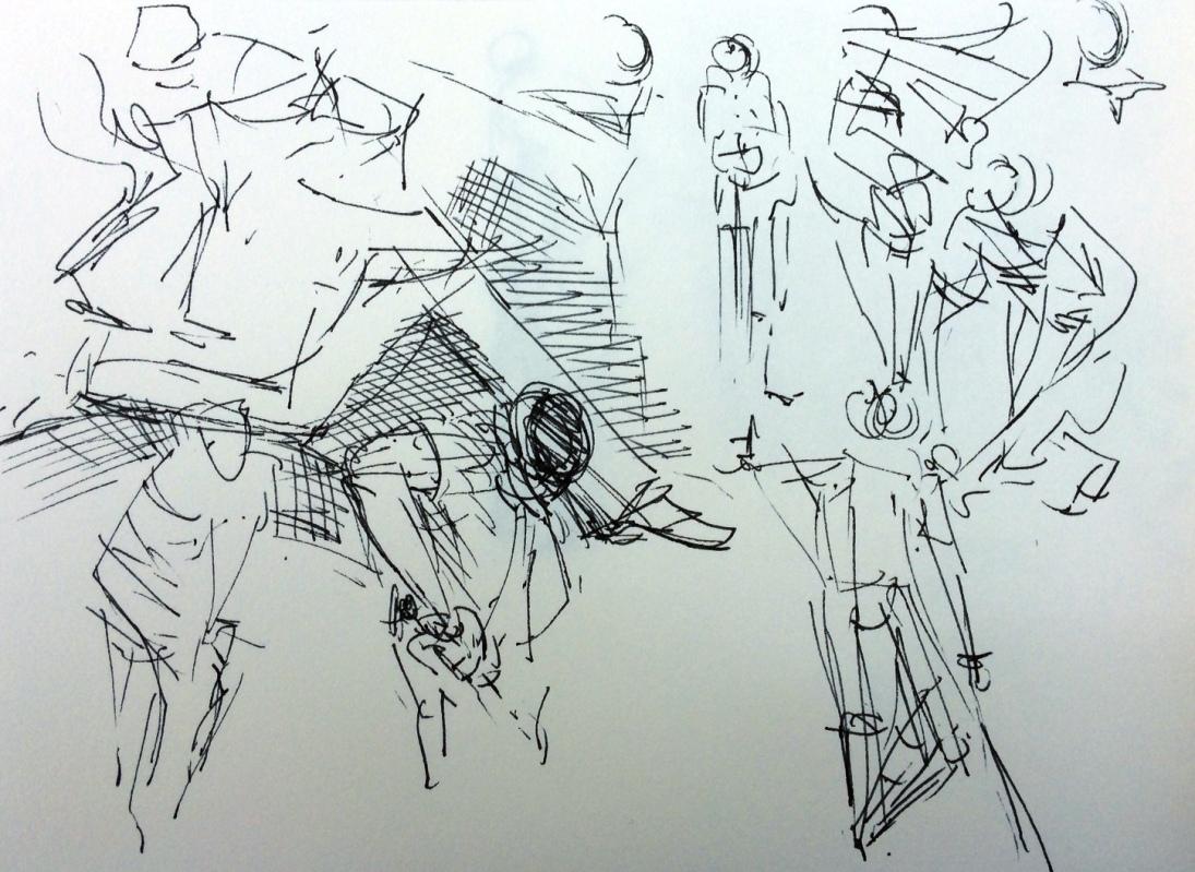 Pen sketch - Cricket World Cup