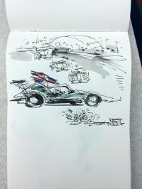 Lewis flies the flag