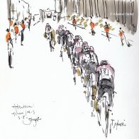 cycling art, Tour de France, Tdf2019, letour
