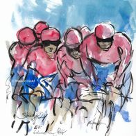 cycling art, tour de france, letour