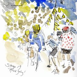 cycling art, tour de france