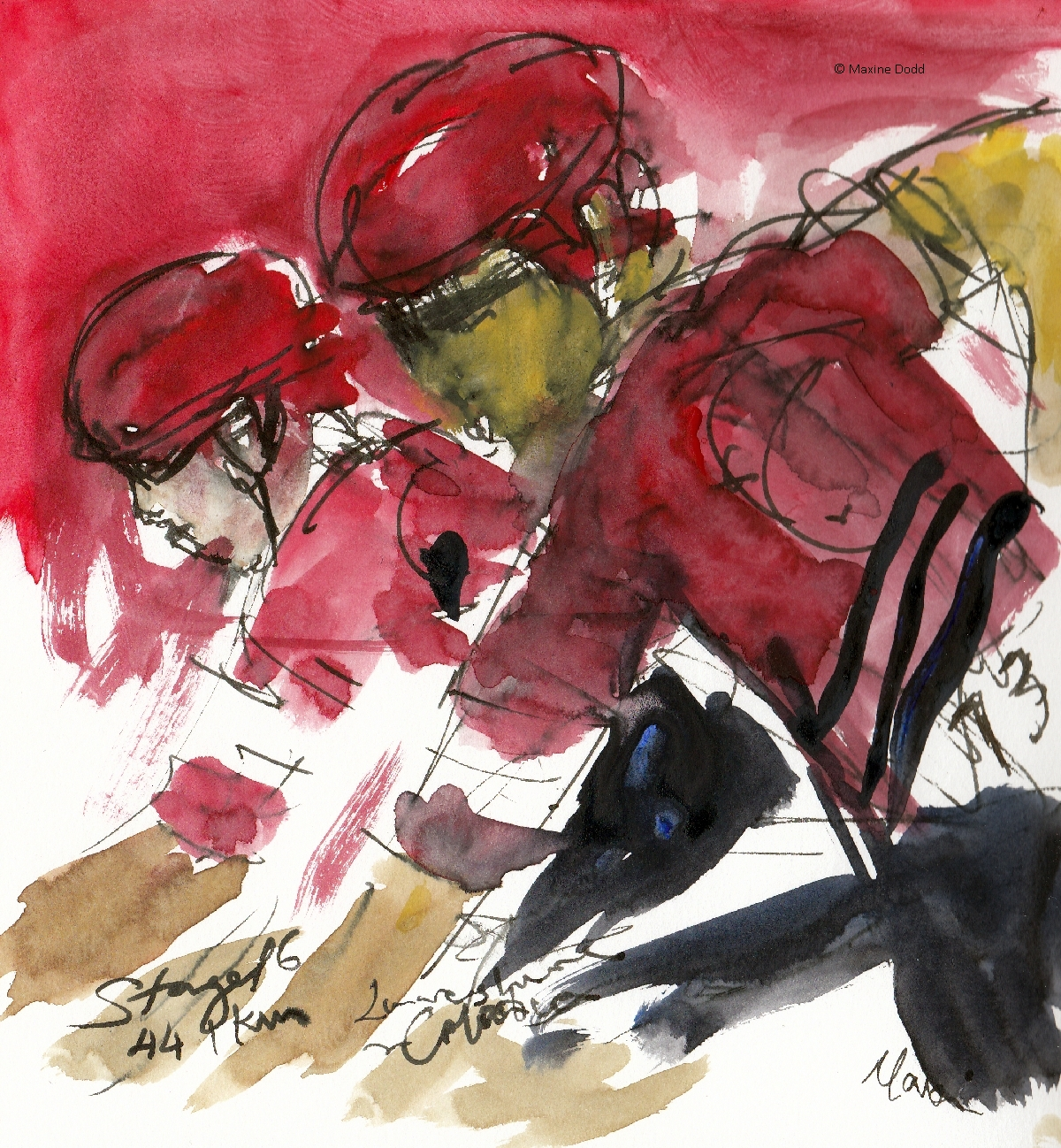 Colombia and Lancashire, watercolour, pen and ink by Maxine Dodd